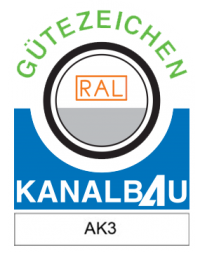 Gütezeichen Kanalbau AK3